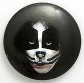 Kiss - 'Peter Make-Up' Large Button Badge